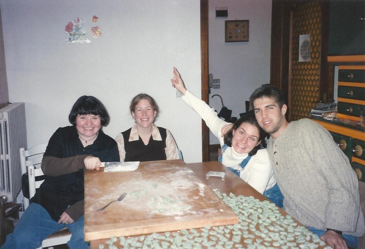 Jenn Phillips Bacher, Kelly Blank, Toby Clark, Andrea Murphy Dec 1996 001
