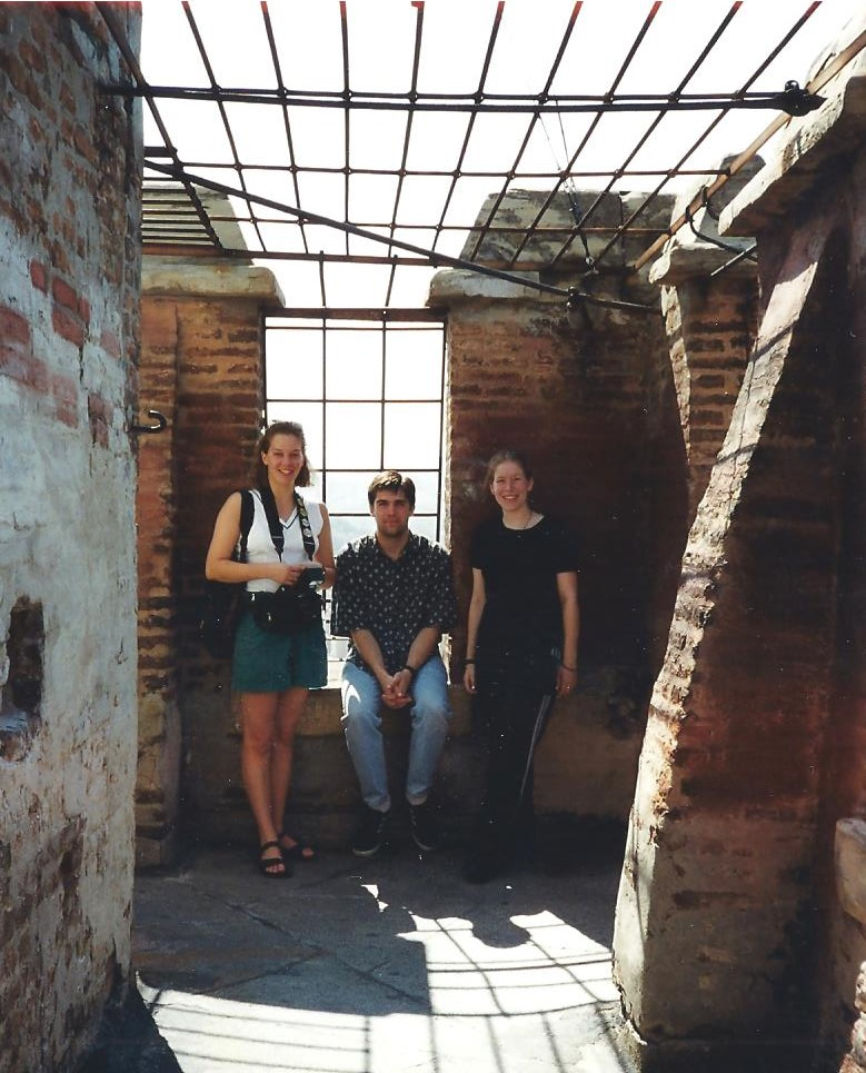 Kelly Blank, Toby Clark, and Rachel in Torre Ansinelli 001