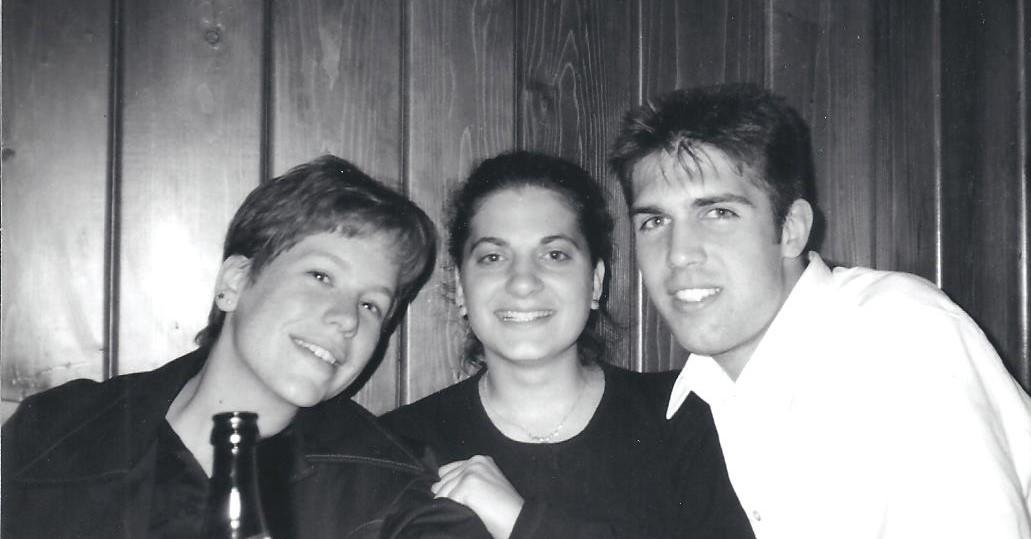 Kelly Blank, Kat Guidi (Meyer), Toby Clark 1997 001